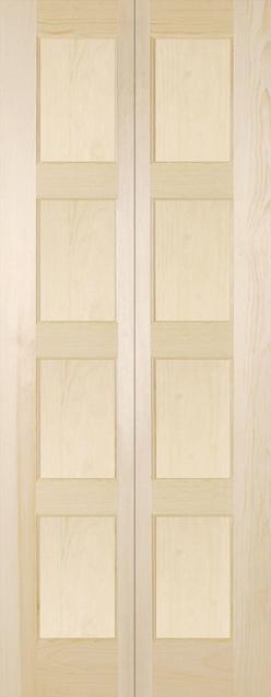 Porte pliante panneaux finis bois for Porte 5 panneaux shaker